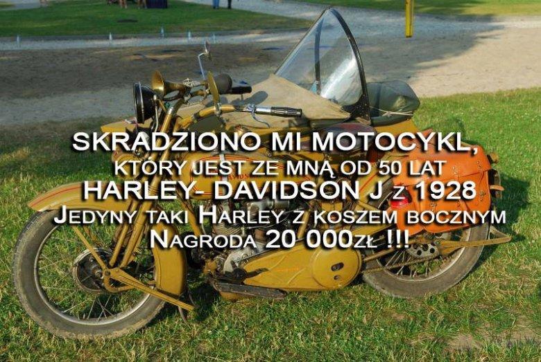 Zaginiony Harley Davidson.