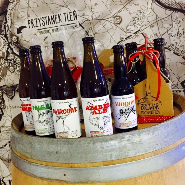 Piwo z browaru w Przystanku Tleń