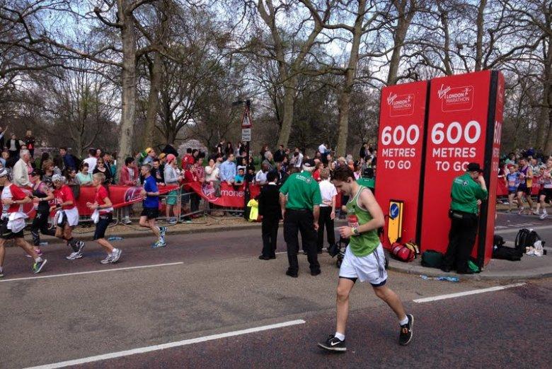 Maraton w Londynie - 600 metrów do mety