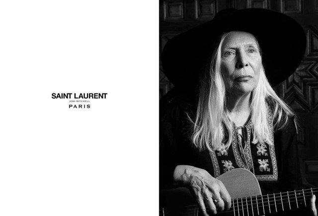 Joni Mitchell u Saint Laurent.