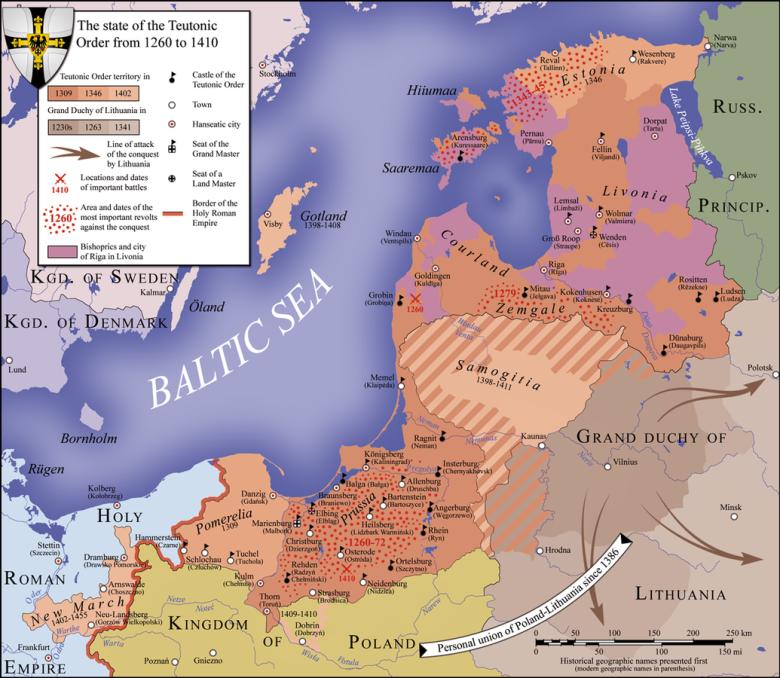 Rozwój państwa zakonu krzyżackiego w latach 1260-1410.