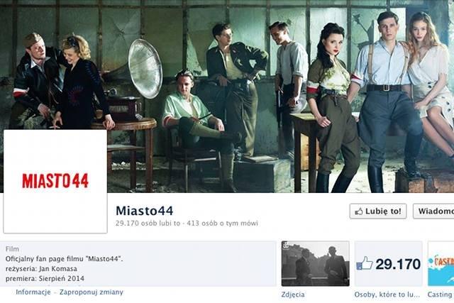 """""""Miasto44"""" ma już oficjalny profil na Facebooku. Premierę filmu o Powstaniu Warszawskim zaplanowano na 2014 rok"""