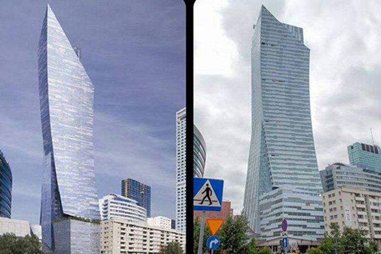 Internauci śmieją się z wykonania Żagla Libeskinda. Architekt: Skala różnic jest ogromna