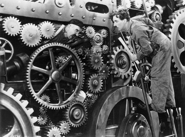 """Modern times"" reż. Charlie Chaplin"