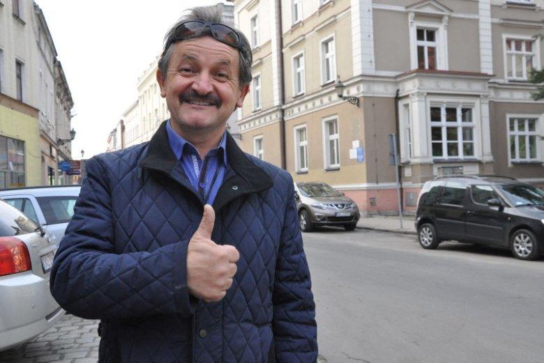 Stanisław Konarski, radny Kluczborka. Jak mówi, polityka go nie interesuje.