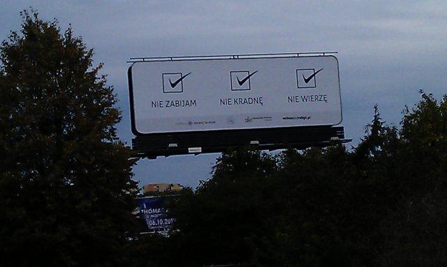 Jeden z billboardów na ulicach Lublina