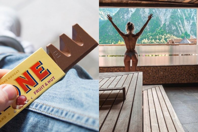 """""""Toblerone tunnel"""" to nowy trend podbijający Instagram. Chodzi o trójkątną przestrzeń tworzącą się między górną częścią ud"""