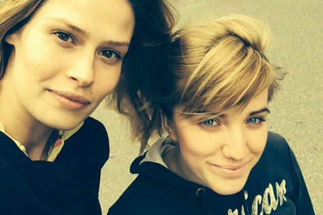 Ja z Anią - dałyśmy radę na treningu :)