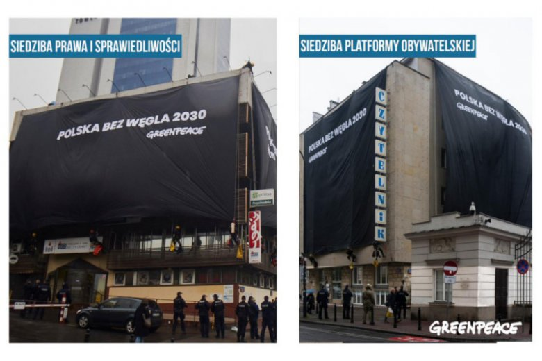 Akcja Greenpeace Polska wywołała skrajnie różne reakcje w PiS i w PO.