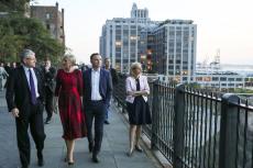 Andrzej i Agata Dudowie w Nowym Jorku.
