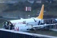 Samolot rozbił się po lądowaniu w Stambule.