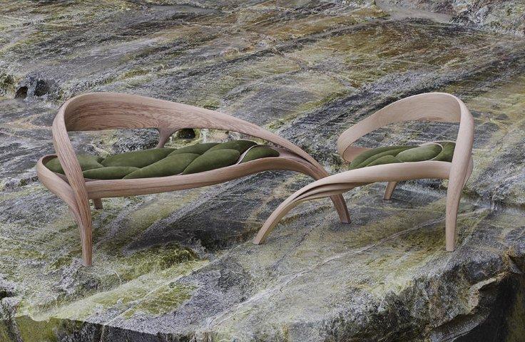 Krzesła z kolekcji Enignum. Zdjęcia dzięki uprzejmości studia [url=http://www.josephwalshstudio.com/] Joseph Walsh [/url]