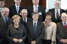Bill Gates na spotkaniu z europejskimi politykami w 2008 roku.