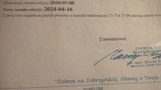 Przychodnia we Wrocławiu przełożyła termin wizyty na 2024 rok