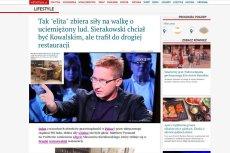 Portal braci Karnowskich wPolityce wyśledził, że Sławomir Sierakowski je zupę!