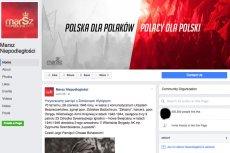 Facebook przywróciłstronę Marszu Niepodległości.