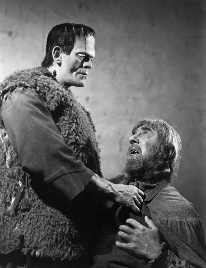 """Boris Karloff i Bela Lugosi w horrorze """"Syn Frankensteina"""" (1939)"""