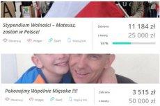 Internautka porównała zbiórkę dla Mateusza Kijowskiego i ciężko chorego na nowotwór mężczyzny.