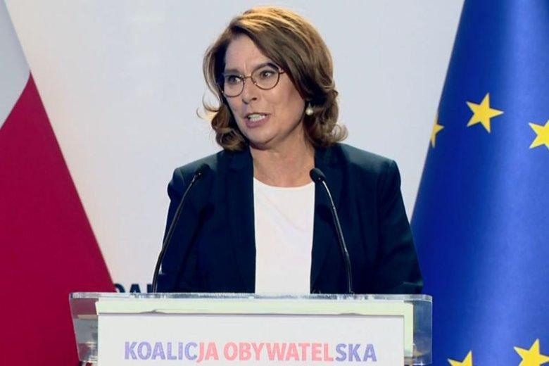Kandydatka KO na premiera zaprezentowała program ugrupowania podczas piątkowej konwencji.