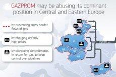 Komisja Europejska uważa, że Gazprom narusza unijne przepisy antymonopolowe