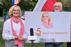 Krystyna Krzekotowska jest kandydatką Światowego Kongresu Polaków na prezydenta Warszawy.