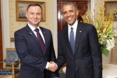 Prezydent Andrzej Duda podczas spotkania z Barackiem Obamą