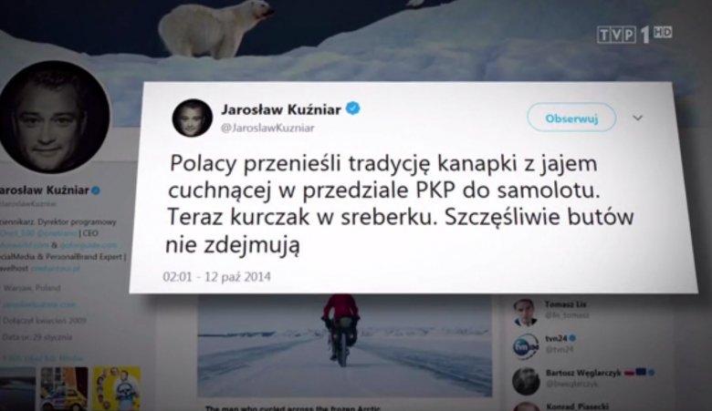 W Wiadomościach TVP było m.in. o Jarosławie Kuźniarze i Agacie Młynarskiej