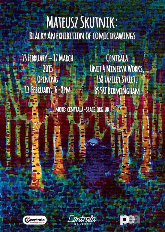 plakat wystawy Skutnika w Birmingham