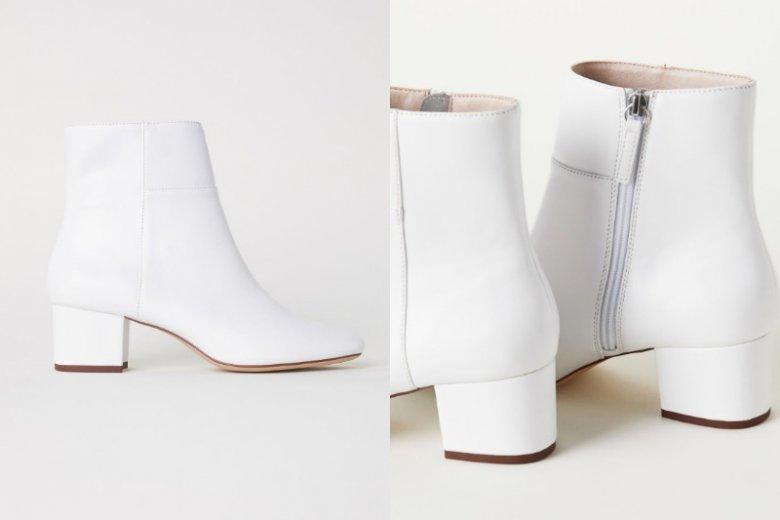 Białe botki pasują zarówno do jeansów, jak i kolorowych sukienek