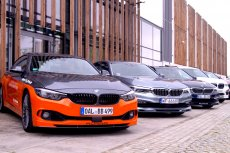 """Alpina to marka dla prawdziwych koneserów. Współpracuje z BMW, a efektem partnerstwa są takie """"zabawki"""", jak na zdjęciu."""