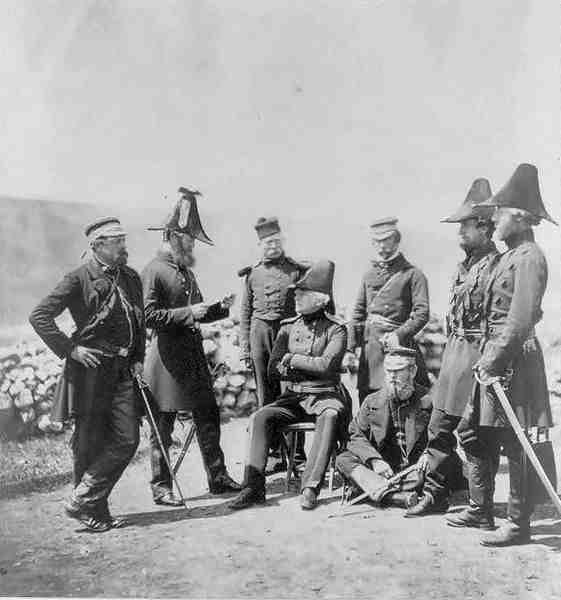 Generał Brown ze swoim sztabem. fot.Roger Fenton