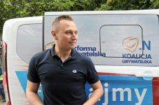Krzysztof Brejza został wezwany na komisariat w Konstancinie w sprawie włamania do domu Marka Falenty.