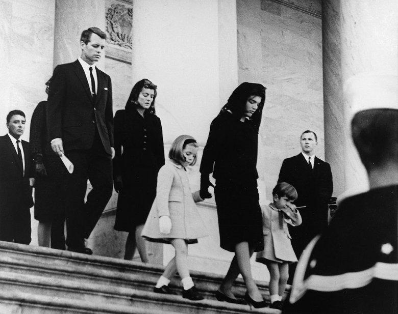 Jackie Kennedy w dniu pogrzebu męża.