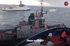 Rosyjska marynarka wojenna ostrzelała ukraińskie jednostki. Pojawiło sięteż nagranie z taranowania jednego ze statków.