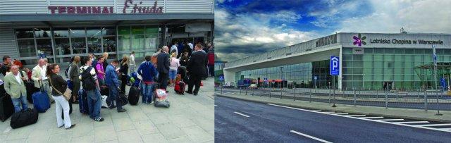 Porównanie zmian na Lotnisku Chopina w Warszawie to najlepsza projekcja zmian w polskie infrastrukturze lotniskowej dzięki EURO 2012. Prowizorki w stylu terminala Etiuda zostały zastąpione nowoczesnymi i bezpiecznymi terminalami.