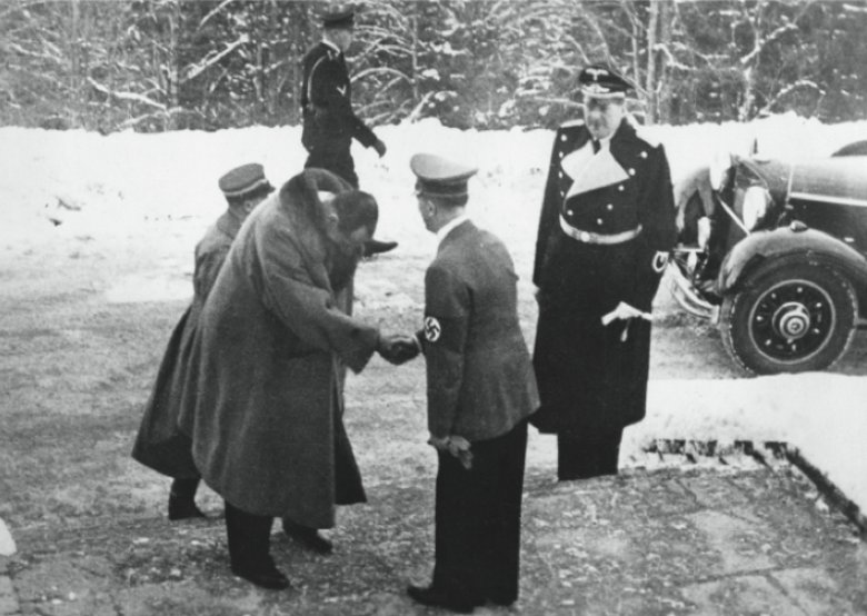 Alternatywny rok 1941: premier Beck u Hitlera (w rzeczywistości: spotkanie Becka i Hitlera w Berchtesgaden, styczeń 1939)