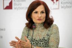 Szefowa KBW Magdalena Pietrzak na konferencji PKW