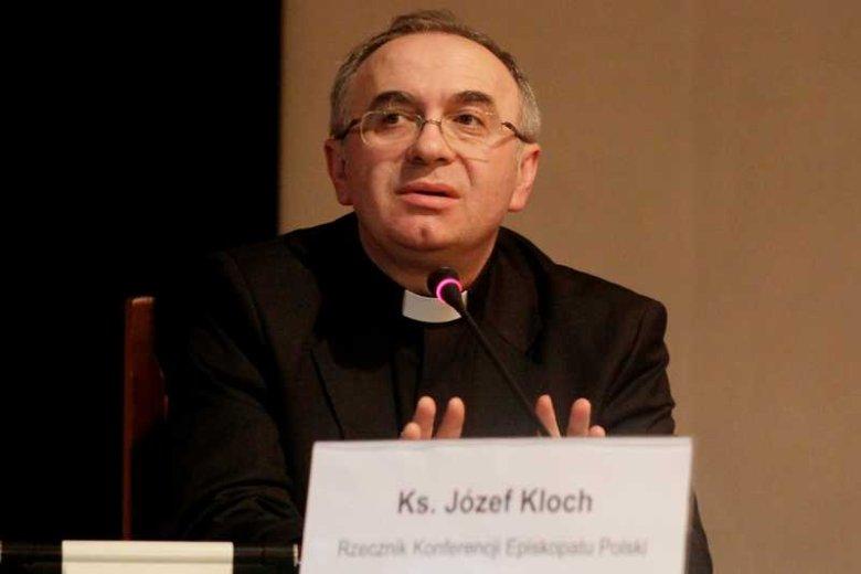 Ks. dr Józef Kloch, rzecznik Konferencji Episkopatu Polski