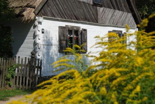 XIX-wieczne chaty w Muzeum Wsi Mazowieckiej.