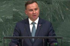Prezydent Andrzej Duda pouczał m.in. kraje członkowskie ONZ o konieczności przestrzegania prawa międzynarodowego
