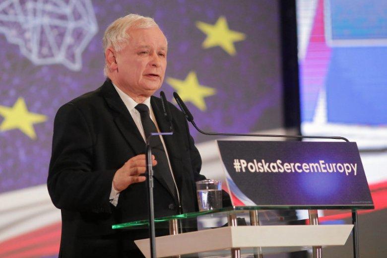 Poseł Jarosław Kaczyński uczestniczy w kampanii wyborczej do PE.