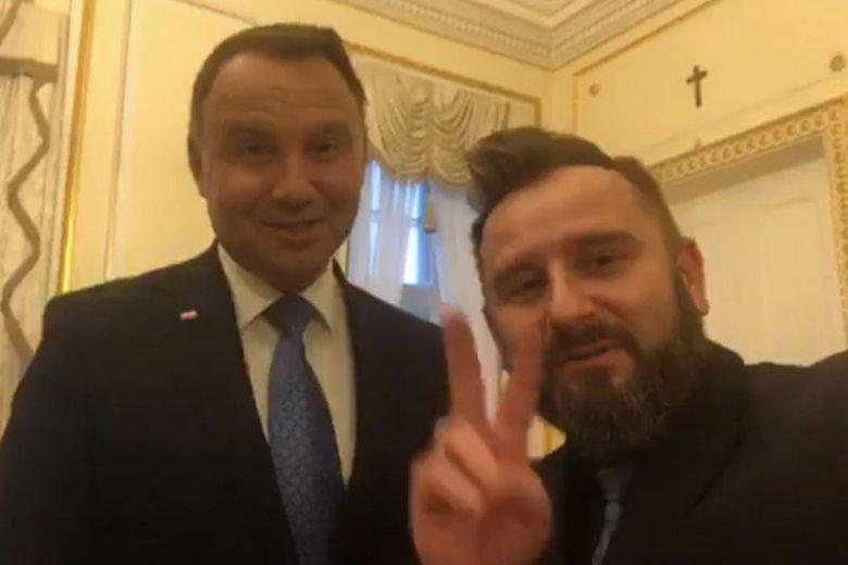 Piotr Liroy-Marzec spotkał się z Andrzejem Dudą.