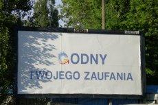 W Warszawie pojawiły się już a'la wyborcze billboardy.