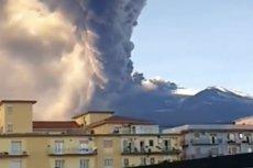 Mieszkańcy nagrali moment wybuchu Etny.
