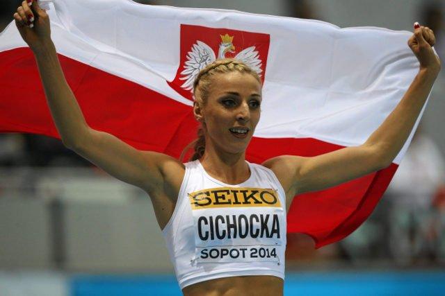 Angelika Cichocka  zdobyła w Amsterdamie złoty medal w biegu na 1500 m.