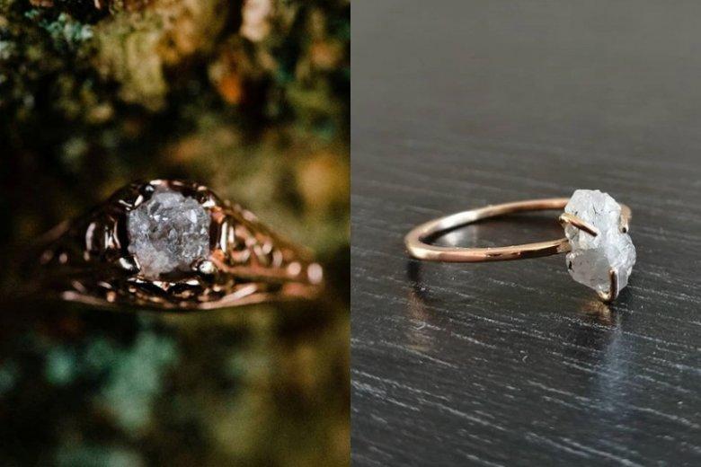 Surowe diamenty mają w sobie więcej zadziorności niż oszlifowane kamienie