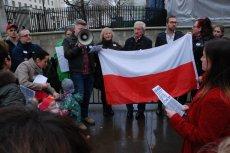 Jedna z manifestacji KOD w Londynie.