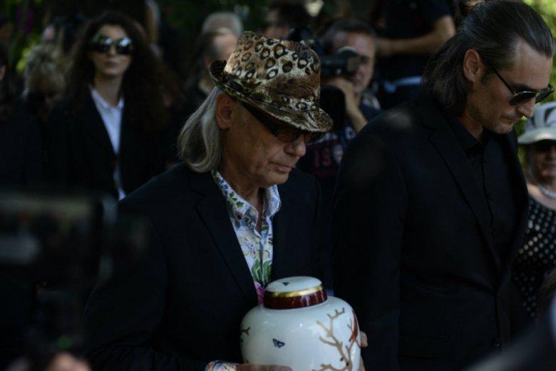Kamil Sipowicz i Szymon Sipowicz na pogrzebie Kory.