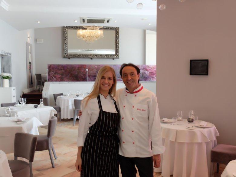 Beata Śniechowska z Michelem Moran na stażu w Bistro de Paris
