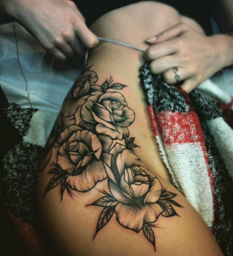 Jedna z prac Anieli Makarskiej aka Horny Pony Tattoo